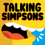 Talking Simpsons logo with text